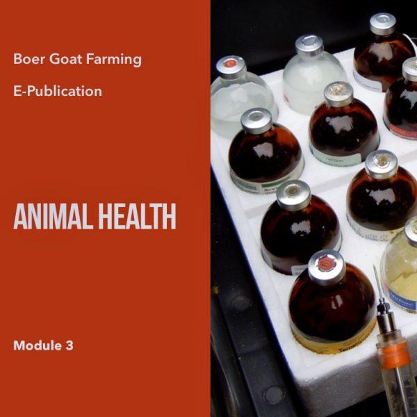 E-pub Module 3: Animal Health